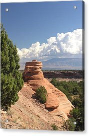 Red Sandstone Sclupture Acrylic Print