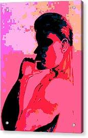 Red Shadow Man Acrylic Print by Marian Hebert