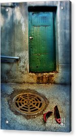 Red Shoes By Green Door Acrylic Print by Jill Battaglia