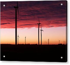Red Skies Acrylic Print by Jim Finch