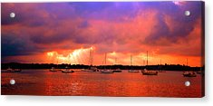 Red Sky At Night - Sailors Delight Acrylic Print