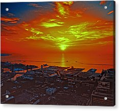 Red Sky At Night A Sailors Delight Acrylic Print
