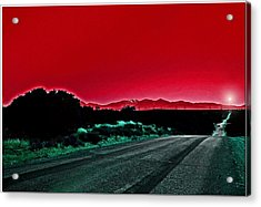 Red Sky At Night Acrylic Print by Chet King