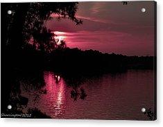 Red Sky At Night Acrylic Print by Shannon Harrington