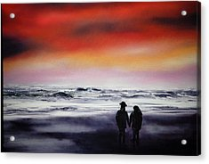 Red Sky Acrylic Print by Johanna Larson