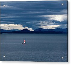 Acrylic Print featuring the photograph Red Star Sail by Lorraine Devon Wilke