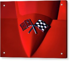 Red Stingray Badge Acrylic Print by Douglas Pittman