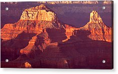Acrylic Print featuring the photograph Red Stones At Sunset Grand Canyon by Rima Biswas