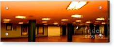 Acrylic Print featuring the photograph Red Subway by Andy Prendy