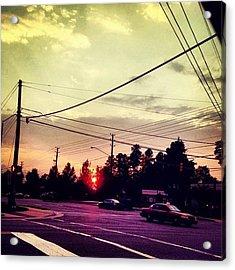 #red #sun Acrylic Print
