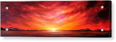 Red Sunset Acrylic Print by Jan Farthing