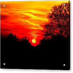 Red Sunset Acrylic Print by Jasna Buncic