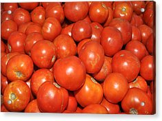 Red Tomatoes Acrylic Print by Diane Lent