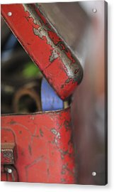 Acrylic Print featuring the photograph Red Toolbox. by Carole Hinding