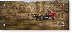 Acrylic Print featuring the photograph Red Truck In North Carolina by Jim Moore