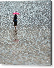 Acrylic Print featuring the photograph Red Umbrella  by Lynn Hughes