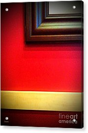 Red Wall Acrylic Print
