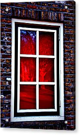 Red Window Holland Acrylic Print by Rick Bragan