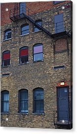 Red Window Acrylic Print by Todd Sherlock