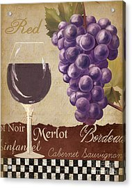 Red Wine Collage Acrylic Print by Grace Pullen