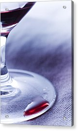 Red Wine Glass Acrylic Print by Frank Tschakert