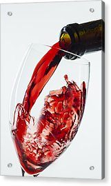 Red Wine Pour Acrylic Print by Garry Gay