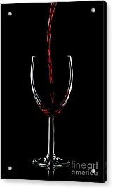 Red Wine Pouring Acrylic Print by Richard Thomas