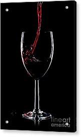 Red Wine Splash Acrylic Print by Richard Thomas