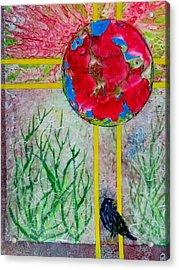 Red World Acrylic Print by David Raderstorf