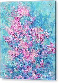 Acrylic Print featuring the painting Redbud Special by Nancy Cupp