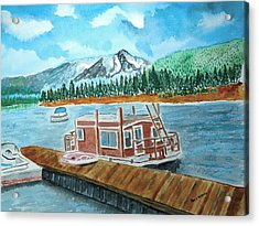 Redfish Lake Acrylic Print by Don L Williams