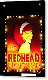 Redhead Acrylic Print by Zannie B