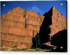 Redrocks Stone Quarry Acrylic Print by John Brink