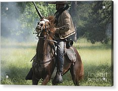 Reenactor And His Horse Acrylic Print by Kim Henderson