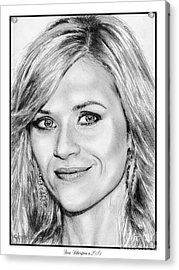 Reese Witherspoon In 2010 Acrylic Print by J McCombie