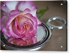 Acrylic Print featuring the photograph Reflected Beauty L by Shirley Mitchell