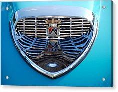 Acrylic Print featuring the photograph Reflecting Ford by John Schneider