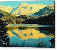 Acrylic Print featuring the photograph Reflecting On Auke Lake by Myrna Bradshaw