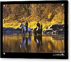 Reflecting On The Ride Acrylic Print