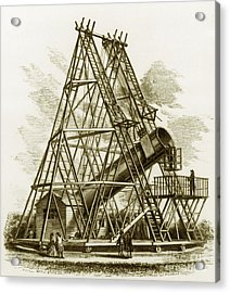 Reflecting Telescope, 1789 Acrylic Print by Science Source