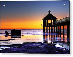 Reflecting The Night Acrylic Print by Pixel Perfect by Michael Moore
