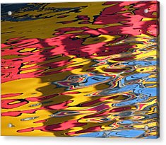 Reflection Abstraction Acrylic Print by Darleen Stry