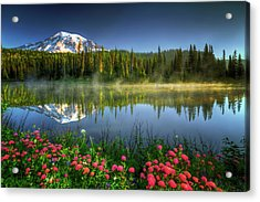 Acrylic Print featuring the photograph Reflection Lakes by William Lee