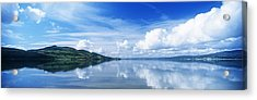 Reflection Of Clouds In Water, Lough Acrylic Print by The Irish Image Collection