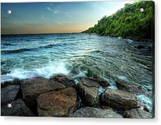 Acrylic Print featuring the photograph Reflection On The Rocks by Anthony Rego