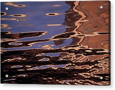 Reflection Patterns In The Waves Acrylic Print by Paul Damien
