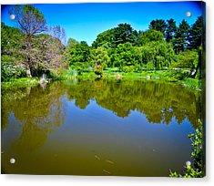 Reflection Pond Acrylic Print by Erica McLellan