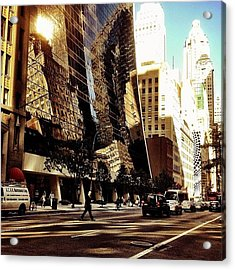Reflections - New York City Acrylic Print by Vivienne Gucwa