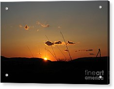 Acrylic Print featuring the photograph Reflections At Dusk by Everett Houser