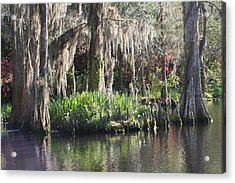 Reflection's At Magnolia Gardens Acrylic Print
